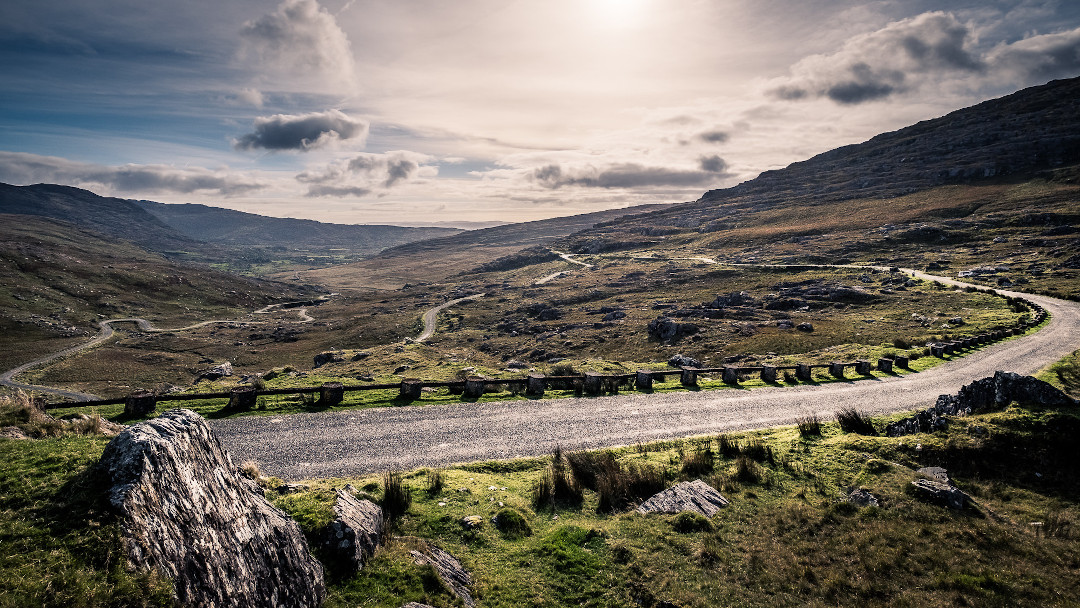 mountain pass in West Cork
